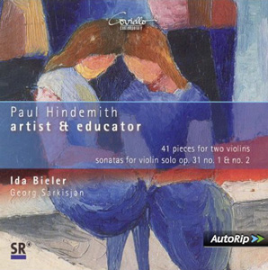 Paul Hindemith: 41 pieces for two violins, Sonata for violin solo